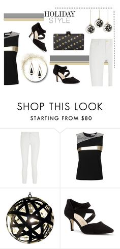 """""""Skip The Dress, Wear Leather Pants Instead"""" by maggiecakes ❤ liked on Polyvore featuring Frame Denim, Bouchra Jarrar and Sole Society"""