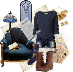 """Ravenclaw Common Room"" by oopsalion ❤ liked on Polyvore"