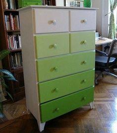 green ombre dresser