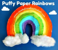 Sun Hats & Wellie Boots: Puffy Paper Rainbows