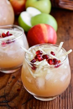 Sparkling Apple Cider Sangria ~ non-alcoholic version too