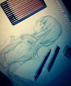sketch - girl 102 by Nekozawa25.deviantart.com on @DeviantArt