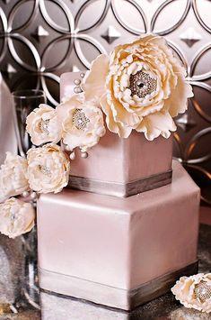 Gorgeous flowers, metallics, and sparkles...