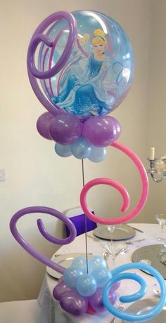 Cinderella Balloon Centerpiece