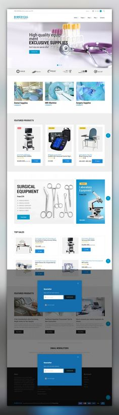Bimedical- Medical Equipment Responsive WooCommerce Theme E-commerce Templates, WooCommerce Themes, Medical Templates, Medical Equipment Templates Bimedical is a fully responsive medical supplies WooCommerce theme that will be a perfect match for your nursing equipment website. Being fully crossbrowser compatible, it has an elegant website sl...