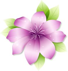 Large Pink Flower Clipart