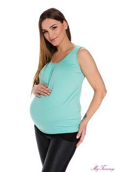 Top ciążowy Lizzy miętowy