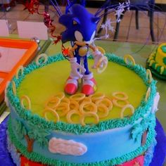 Sonic The Hedgehog Cake    I may be able to do that. Use her figurine for the center.