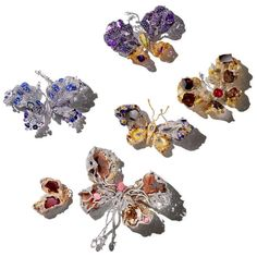 A selection of Cindy Chao's much anticipated annual butterflies. The central Royal Butterfly is on display at the Smithsonian while the bottom right one, was co-designed with Sarah Jessica Parker. Discover the jewellery genius who debuted at the Biennale des Antiquaires in Paris 2016: http://www.thejewelleryeditor.com/jewellery/article/cindy-chao-brilliance-unveiled-biennale-des-antiquaires-paris/ #jewelry