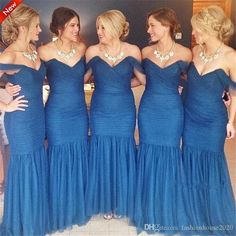 Sexy Long Royal Blue Bridesmaid Dresses 2017 Pleated Floor Length Mermaid Bridesmaids Dress Cheap Country Prom Party Gowns Custom Made Bridesmaid Dresses Royal Blue Bridesmaid Dresses Bridesmaids Dress Online with $85.72/Piece on Fashionhouse2020's Store   DHgate.com
