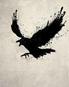 Raven by Nicklas Gustafsson - Raven Drawing - Raven Fine Art ...