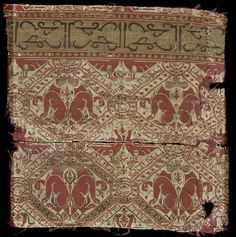 Woven fragments Place of origin: Almeria, Spain (probably, made) Date: ca. 1100-1150 Materials and Techniques: Woven silk Museum number: 275&A-1894   V&A