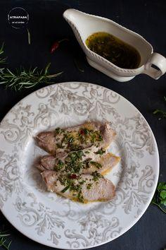Lomo a la sal con salsas chimichurri