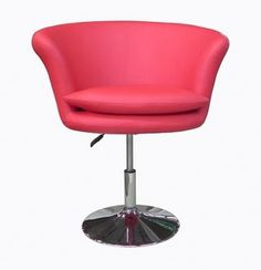 Kristina Set of 2 Swivel Chairs in Red Leatherette by Whiteline