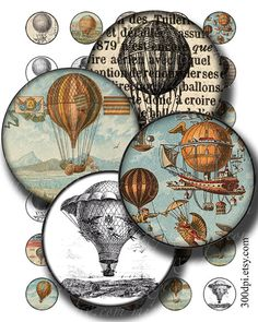 1 inch circles printable download digital collage sheet by 300dpi, $4.00
