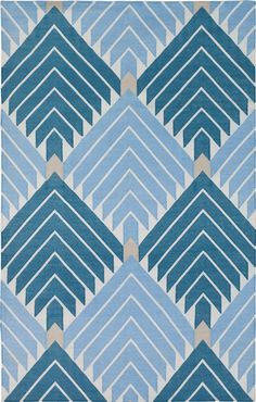 Blue Lulu by Madeline Weinrib - Cotton Rug (could also work in Master Bedroom)