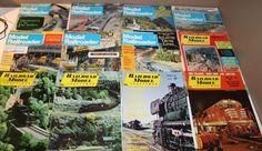 12x Railroad Model Craftsmen + Model Railroader Train Magazines 1966-1992