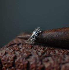 Medieval Design, Sterling Silver, Unisex Ring, Gift Wrapped, Statement Ring, Silver Jewelry, 6mm Band Ring, Artisan Craft Ring, Pendant Top