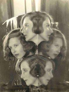 celebrated photographer Cecil Beaton's family. From the bottom: Mrs Beaton, Nancy Beaton and Baba Beaton. 1929