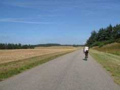 cycling road from ferry  on Veno, Denmark