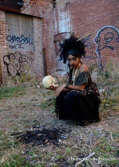 Marie Laveau Voodoo Queen working Her magic by chimeramindstudio on DeviantArt Voodoo Costume, Voodoo Dolls, Voodoo Halloween, Voodoo Priestess Costume, Marie Laveau, Maquillage Voodoo, Magia Elemental, Voodoo Hoodoo, Witch Doctor