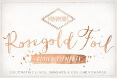 Rose Gold Foil Design Elements by Summit Avenue on @creativemarket