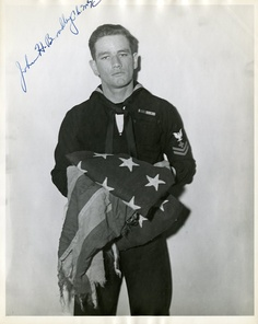 John Bradley - A Navy corpsman, who was one of the three surviving men who raised the American Flag over Mt. Suribachi during the Battle of Iwo Jima in WWII