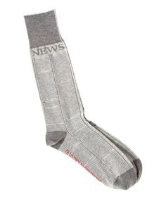 Loving this Gray Fit to Print Pima-Blend Socks on #zulily! #zulilyfinds