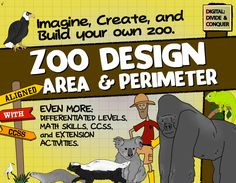 Zoo Design: Area, Perimeter, Map Skills, Project Based Learning, & More