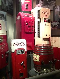 """Coke Museum in Atlanta - Mother's """"beauty operator"""" had a coke machine and on Fridays I got to have a coke at the Beauty Shop"""