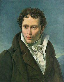 """""""Schopenhauer en 1815, mientras escribía El mundo como voluntad y representación"""""""