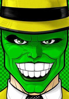 The Mask by Thuddleston on DeviantArt Cool Art Drawings, Cartoon Drawings, Cartoon Art, Pop Art Wallpaper, Cartoon Wallpaper, The Mask Cartoon, Arte Bob Marley, Desenho Pop Art, Comic Face
