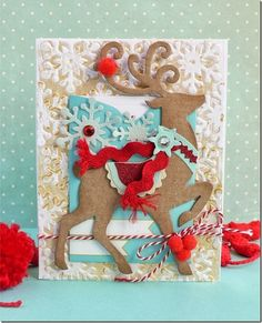 Anna Draicchio - sizzix big shot - card christmas snowflake embossing folder and snowflake framelits