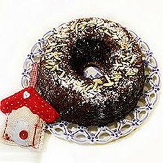Bolo de chocolate de Natal