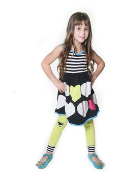 Winking Heart Tyler Dress & Legging Set (Baby, Toddler, Little Girls, & Big Girls)