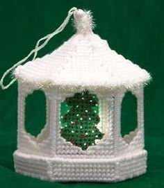 Plastic Canvas Christmas Gazebo Pattern