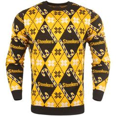 Pittsburgh Steelers Candy Cane Repeat Sweater - Black - $69.99
