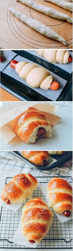 #Chinese #Hot #Dog #Buns recipe by the Woks of Life, made with our popular milk bread dough