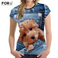 3D Poodle & More Summer Tshirts, Neck T Shirt, Poodle, Harajuku, Slim, 3d, Cute, Animal, Sleeve