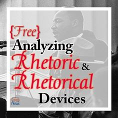 analyzing the rhetorical Analyze a speech for rhetorical devices and their purpose identify an author's purposeful manipulation of language identify elements of argument within a speech.