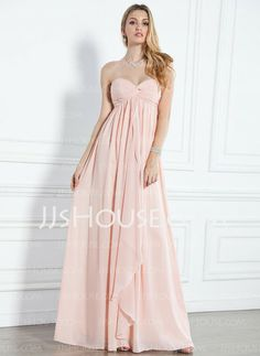 Evening Dresses - $114.99 - Empire Sweetheart Floor-Length Chiffon  Charmeuse Evening Dresses With Ruffle (017004359) http://jjshouse.com/Empire-Sweetheart-Floor-length-Chiffon--Charmeuse-Evening-Dresses-With-Ruffle-017004359-g4359