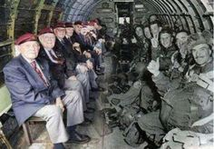 Paratroopers retake their seats from D-Day. I can only imagine the stories that were told that day.