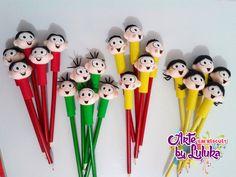 Ponteiras de lápis Turma da Mônica
