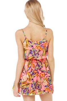 Summer flower new design double layer lace patchwork spaghetti strap one-piece dress haoduoyi