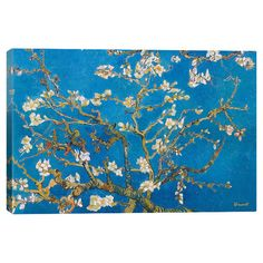 Add gallery-worthy appeal to your walls with this canvas print of Vincent van Gogh's Almond Blossom. Display it alone as an artful focal point or gro...