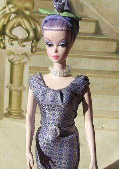Luncehon Ensemble Silktone Barbie–Purple Iris. lunchenon enseble barbie silsktone purple