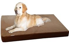Dogbed4less Orthopedic Waterproof Heavy Duty Memory Foam Dog Bed for Large pet Denim in Brown Jumbo 55X47X4 >>> Read more reviews of the product by visiting the link on the image.