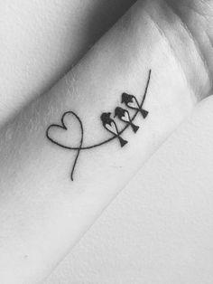 tatuajes de aves en la muñeca Mother Daughter Tattoos, Tattoos For Daughters, Tattoos For Women Small, Tattoo Designs For Women, Small Tattoos, Family Name Tattoos, Symbol For Family Tattoo, Tattoos With Kids Names, Kid Names