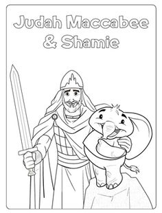 printable coloring pages maccabees | Hanukkah Coloring Pages | Coloring pages, Christmas ...