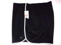 Danskin Women's Plus Loose Fit Workout Gym Shorts 4X 26W-28W) Black NEW #DanskinNow #Shorts